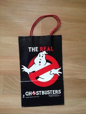 The Real Ghostbusters VTG Toy Figure Gift Bag Logo Box 80s Made in USA Action