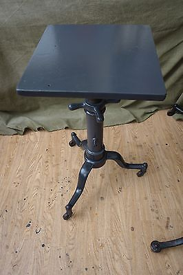 Vintage Cast Iron Adjustable Table Industrial