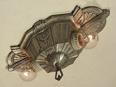 "STELLAR! Restored Antique 1930s LINCOLN ""MARIETTA"" Light Fixture PAIR Available!"