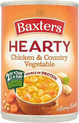 Baxters Hearty Chicken & Vegetable Soup   3 x 400g