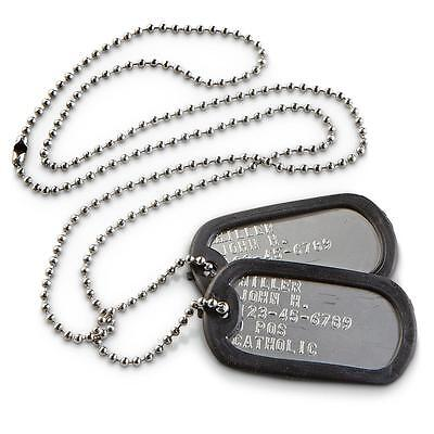 Military Dog Tags (BLANK/NO TEXT) Stainless Steel Wholesale Lot  *USA MADE*
