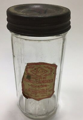 Antique Woolworths Hard Candy Jar Lid & Label