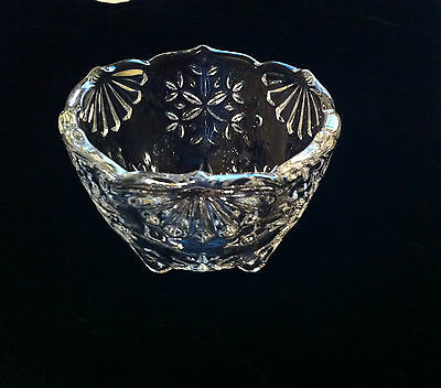 Mikasa Crystal Snowflake Footed Candle Holder Small Candy Dish Germany Excellent