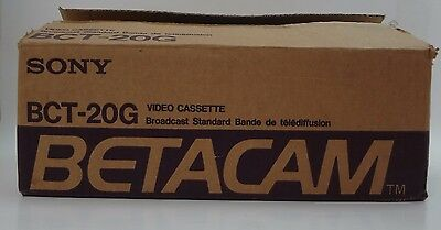 Sony BETACAM BCT-20G Broadcast Standard Video Tape Cassette 9 Tapes