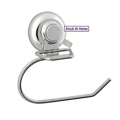 Naleon Ultimate Chrome Toilet Roll Paper Holder Suction Cup Bathroom Removable