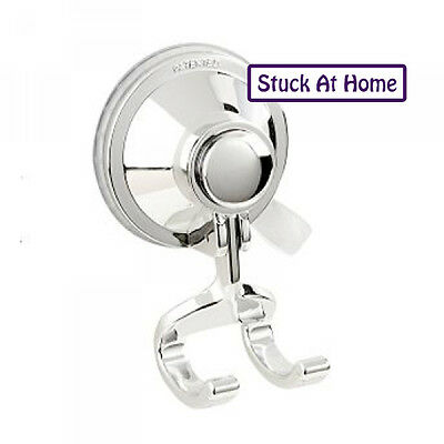 Naleon Suction Razor Hook Holder - Chrome Shower Bathroom Hanger