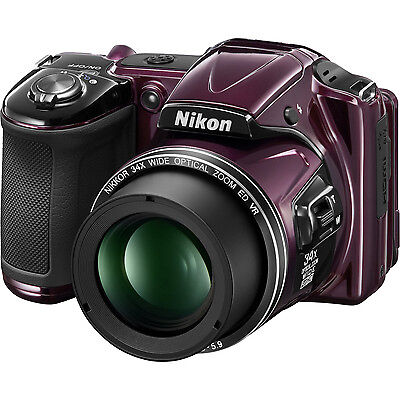 Nikon COOLPIX L830 16MP Digital Camera w/ 34x Optical Zoom (Plum) Refurbished