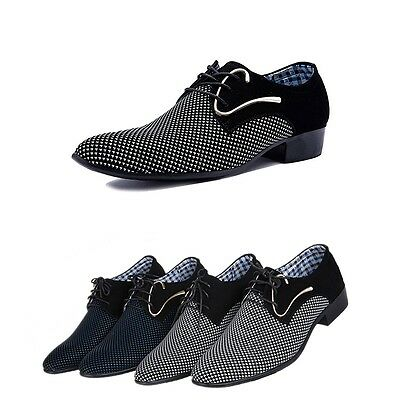 Men's Pointed Toe Suede Mock Leather Business Dress Casual Fashion Style Shoes