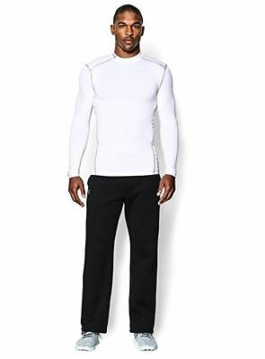 Under Armour Men ColdGear Compression Long Sleeve Mock Shirt White Select Size