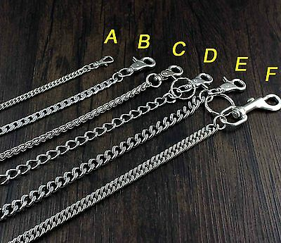 Silver Color Metal Biker Wallet Chain Jeans Link KeyChain 5 Style