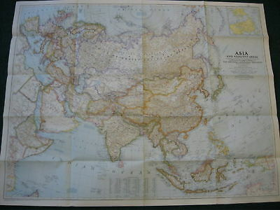 1951 Asia National Geographic Map