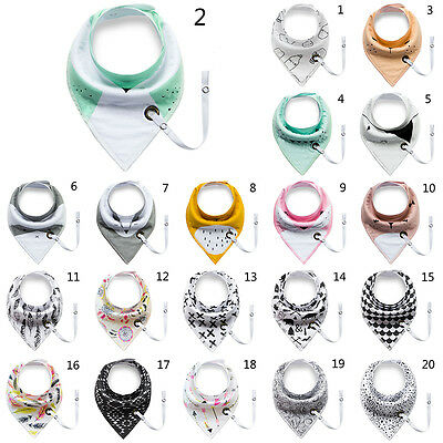 Newborn Baby Boy Girl Saliva Towel Bandana Bibs Dribble Triangle Kids Head Scarf
