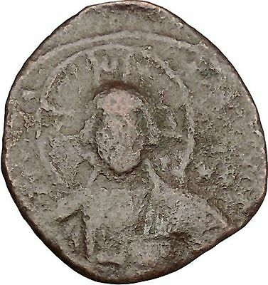 JESUS CHRIST Class A2 Anonymous Ancient 1028AD Byzantine Follis Coin  i41840