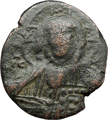 JESUS CHRIST Class A2 Anonymous Ancient 1028AD Byzantine Follis Coin i48312