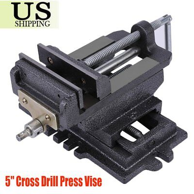 "Cross Slide Vise 5"" inch Wide Drill Press X - Y Clamp Milling Heavy Duty 2 Way P"