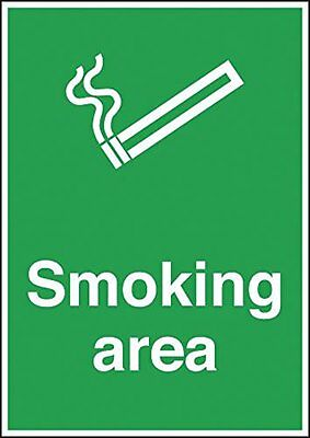 "Signs and Labels AMZMD047A2AL ""A2 Smoking Area"" Mandatory Safety Sign, 594 mm x"