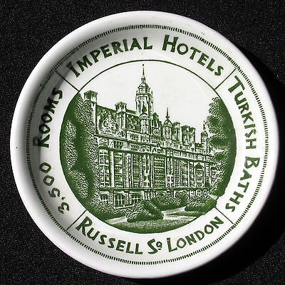 IMPERIAL HOTELS Dish London Russell SQ Wood & Son Hotel Ware Turkish Baths VTG