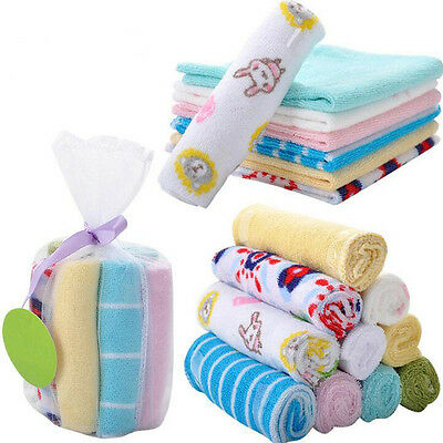8Pcs/set Baby Bibs Towel Cotton Saliva Towel Toddler Lunch Bibs Handkerchief