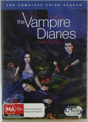 THE VAMPIRE DIARIES SEASON THREE  Ian Somerhalder  5-Disc Set  DVD R4 PAL