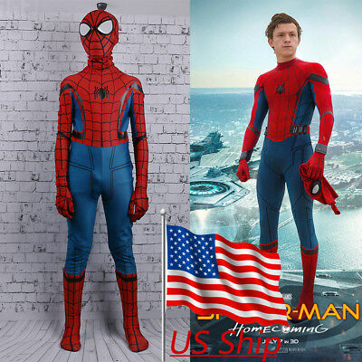 2017 Spider-Man Homecoming Costume Cosplay Spiderman Kids Zentai 3D Costume New