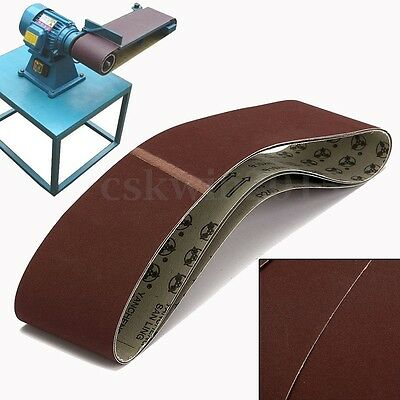 3Pcs 100x915mm 240 Grit Resist Heat Sander Sanding Belts Belt For Metal Working