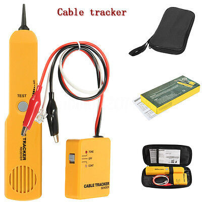 Telephone Line Network Finder Detector Tracker Cable Tester RJ-11/45 Wire Tracer