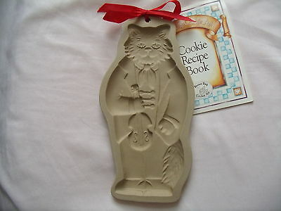 """Brown Bag Cookie Art 1990 """"cat With Fiddle/violin"""" Cookie Mold New With Book"""