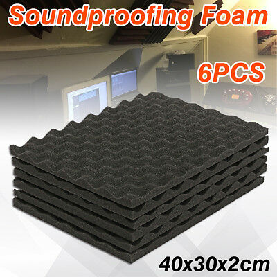6X Soundproofing Foam Acoustic Sound-Absorbing Noise Sponge Foams KTV Studio