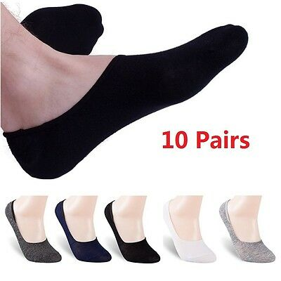 10 Pairs Mens Women Unisex Invisible Liner Trainer No Show Secret Footsies Socks