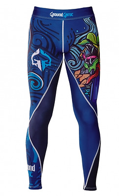 New Ground Game Irezumi Spats Grappling Tights - Size Small - Bjj Jiu Jitsu Mma