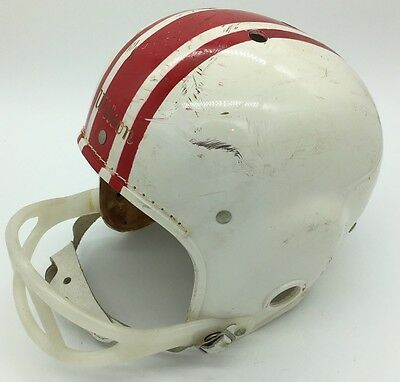 Vintage Wilson White Red Youth Football Helmet Suspension Cushion F 2174 Large