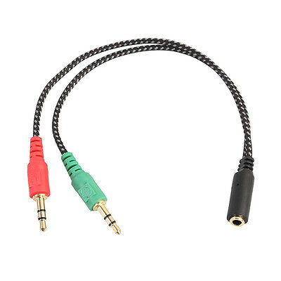 Microphone adapter cable - Headset Splitter Cable for PC 3.5mm Jack Headphones