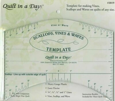 Scallop, Vine & Waves Template