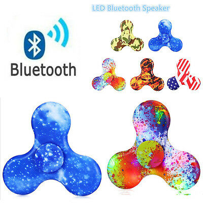 Wireless Bluetooth Speaker LED Light Fidget Hand Spinner Triangle Focus Toy  LY