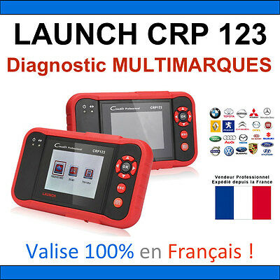 ★ VALISE DIAGNOSTIQUE ★ LAUNCH CRP123 - Renault Peugeot Mercedes Bmw PEUGEOT