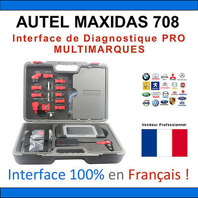AUTEL MAXIDAS DS708 - Valise Diagnostique MULTIMARQUES PRO MULTIDIAG AUTEL CDP
