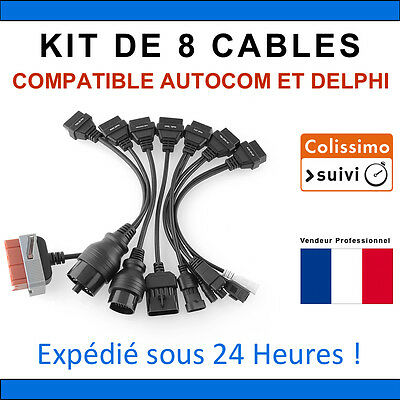 Lot de 8 Câbles additionnel pour Autel CDP+ DS150e VALISE DIAGNOSTIQUE AUTO