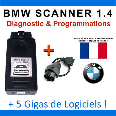Interface Diagnostique BMW Scanner V1.4 / K+DCAN / K-CAN / OBD2 OBDII / ELM327