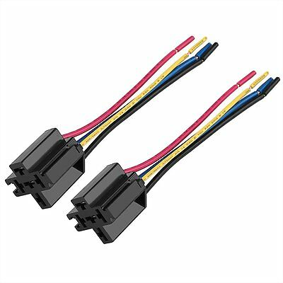 1 Pcs Replacing Parts Relay Socket Harness 5 Pin 5 Wire For Car Auto Vehicle UK