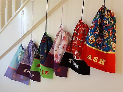 Childrens / Girls / Boys Personalised Character Library Bags / Book Bags