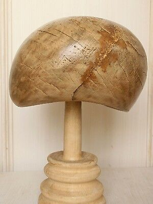 MILLINERY Wooden Hat BLOCK Form Holz Hutform Cap Hutmacher Hat Making