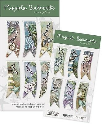 Ocean Themed Magnetic Bookmarks Set of 6 from Angelstar®