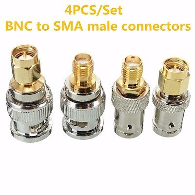 4Pcs BNC To SMA Type Male Female RF Kit Adapter Connector Test Converter Set