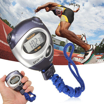 Digital Handheld Sports Swim Stopwatch Stop Watch Time Clock Alarm Counter Timer