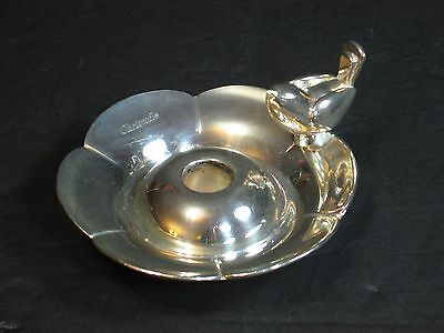 CHRISTOFLE Figural Silver Candle Holder/CHAMBERSTICK, Bird Handle, Marked, Rare!