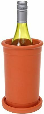 Amano - Terracotta Wine Cooler with Saucer 20x12cm - Made in Portugal