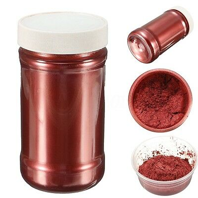 Wine Red Ultrafine Glitter Pearl Pigment Powder Metal Sparkle Shimmer Paint