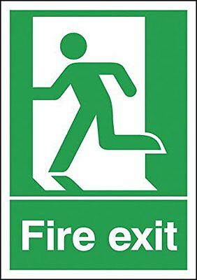 "Signs and Labels AMZFE048AEBRA ""Fire Exit Running Man Left"" Safe Condition Sign,"