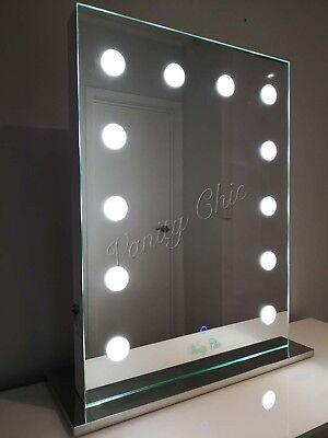 WHITE Hollywood Makeup Mirror with lights, Vanity Make Up Beauty Mirror