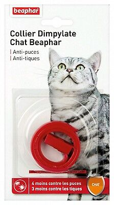 COLLIER CHAT ANTI PUCE ANTI TIQUE rouge